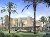 Rendering of GardenWalk hotels.