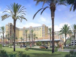 Rendering of GardenWalk hotels.