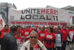 Unite Here protestors