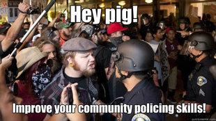 Community policing meme