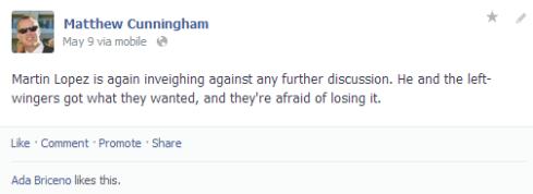 Briceno FB pro-silencing discussion