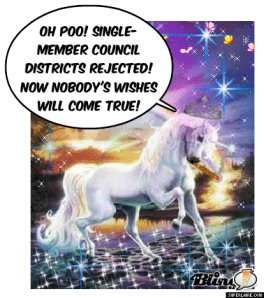 The Magic Single-Member District Unicorn is not happy.