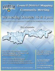 October 16 council district mapping meeting