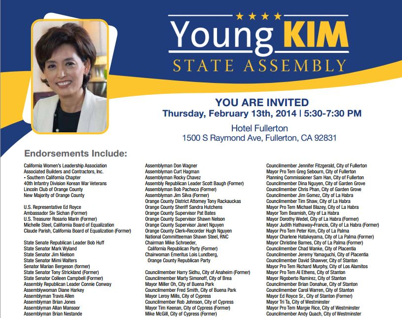Young Kim 2-13-14 fundraiser