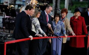 Ribbon cutting for Convention Center grand Plaza - funded in the same way as the proposed ACC expansion.