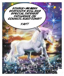 The Magic Single-Member District Unicorn will believe anything.