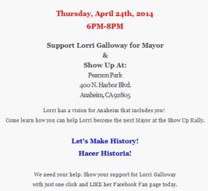 galloway 4-24 rally