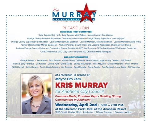 Murray April 2 fundraiser