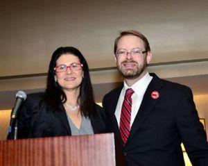 Ada Briceno (L) and Eric Altman (R)