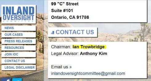 IOC dead Ian Trowbridge
