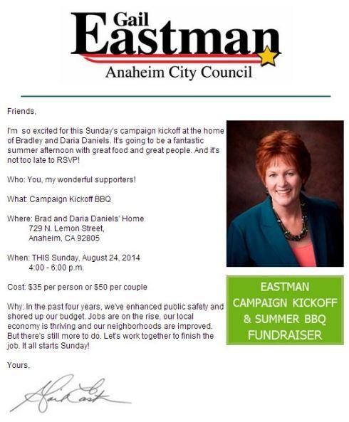 Eastman 8-24-14 fundraiser