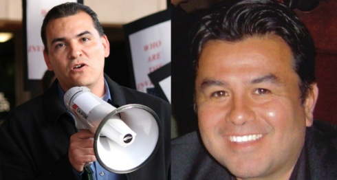 Leftist Jose Moreno (L) and conservative Jose Moreno (R)